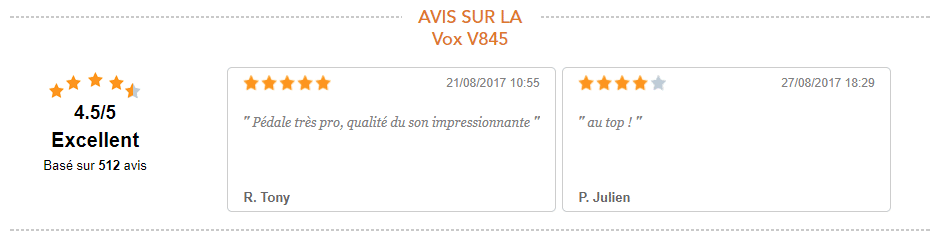 Avis Vox 845