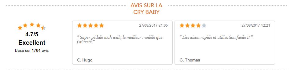 avis sur la pédale cry baby